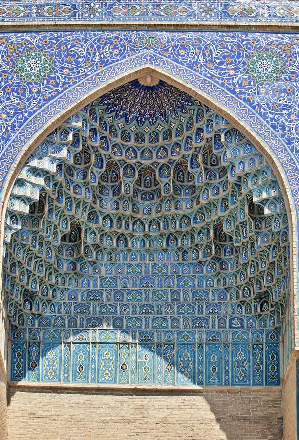 Θέση τοίχων Decoratid στο μαυσωλείο gur-ε-εμιρών, Σάμαρκαντ στοκ φωτογραφίες
