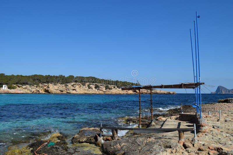 Θέση ψαριών cala στο bassa στοκ φωτογραφία