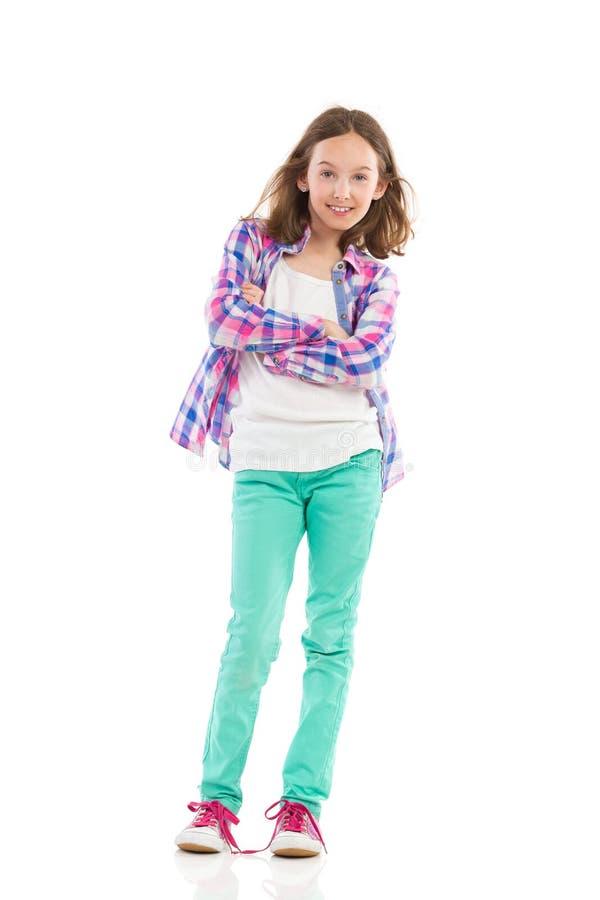 θέτοντας έφηβος κοριτσιών στοκ εικόνες