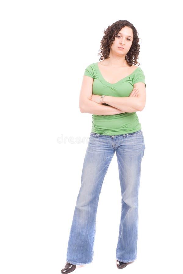 θέτοντας νεολαίες γυναικών στοκ φωτογραφία