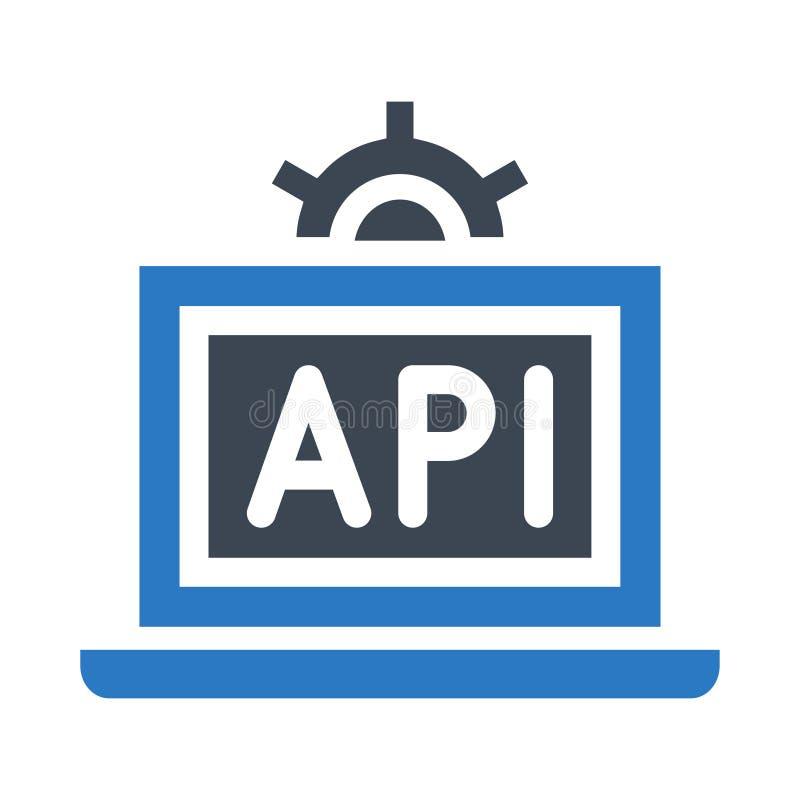 Θέτοντας glyphs διπλό εικονίδιο χρώματος API απεικόνιση αποθεμάτων