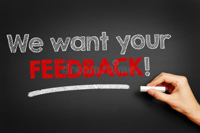 Θέλουμε το σας ανατροφοδοτούμε! στοκ φωτογραφίες με δικαίωμα ελεύθερης χρήσης