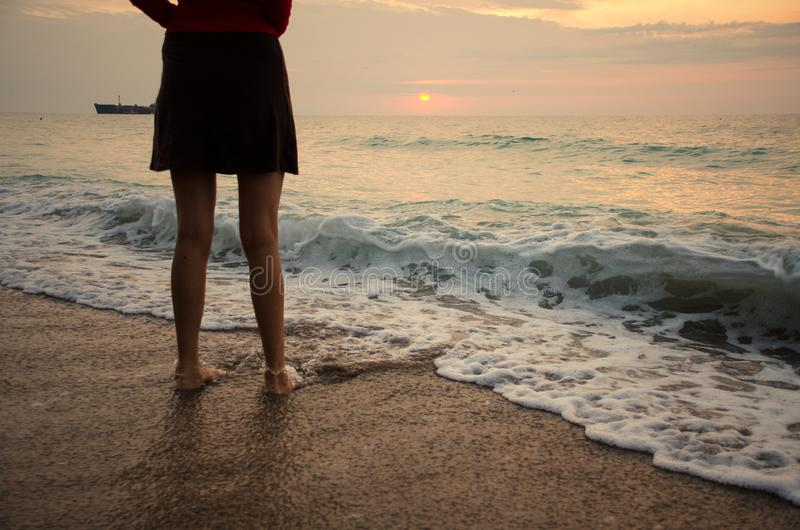 Θαλάσσια κύματα στη Μαύρη Θάλασσα στοκ φωτογραφίες