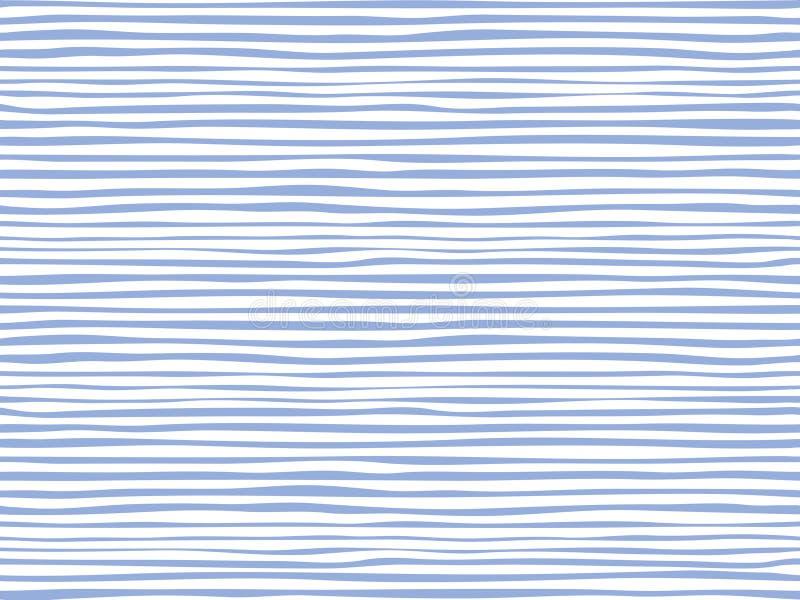 Θαλάσσια λωρίδες γραμμών Υφαντικό σχέδιο ελεύθερη απεικόνιση δικαιώματος