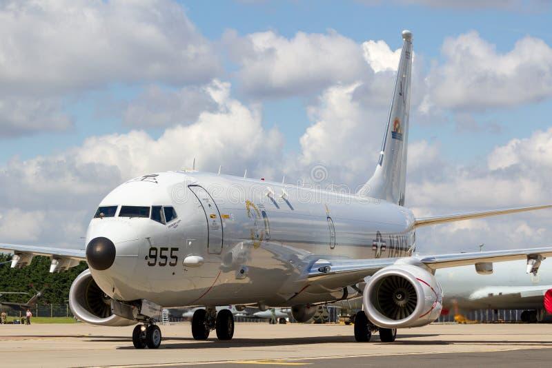 Θαλάσσια περίπολος Ηνωμένου ναυτικού USN Boeing π-8A Poseidon και αεροσκάφη ανθυποβρυχιακής εχθροπραξίας στοκ φωτογραφία με δικαίωμα ελεύθερης χρήσης