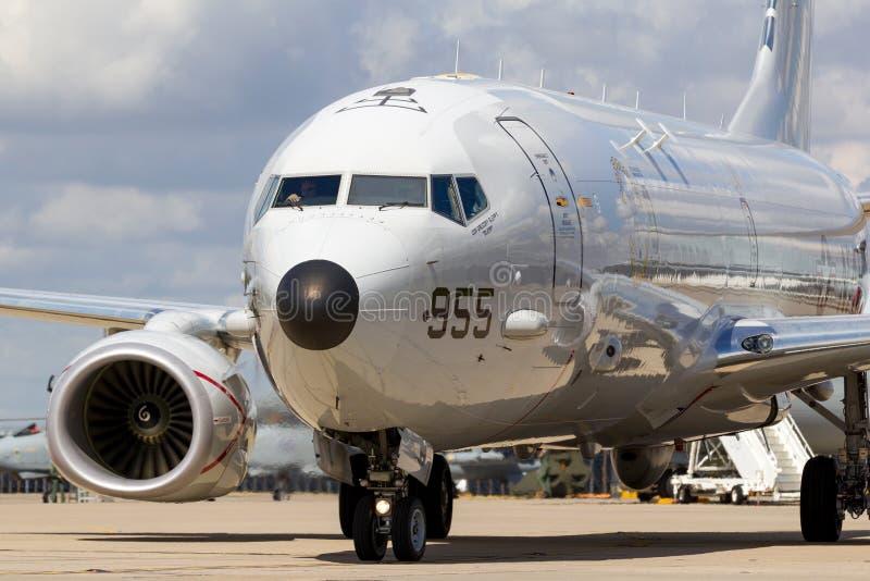 Θαλάσσια περίπολος Ηνωμένου ναυτικού USN Boeing π-8A Poseidon και αεροσκάφη ανθυποβρυχιακής εχθροπραξίας στοκ εικόνες με δικαίωμα ελεύθερης χρήσης
