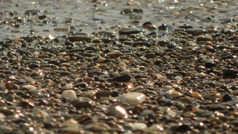 Θαλάσσιοι λίθοι στην ακτή στοκ εικόνα