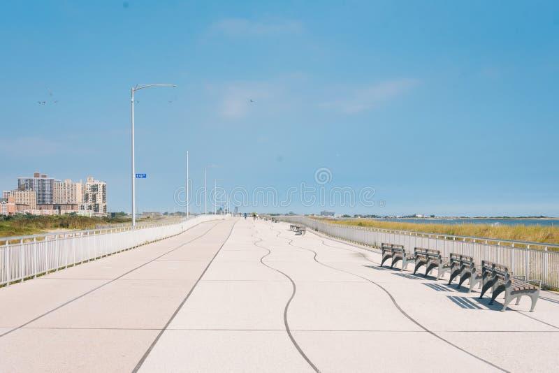 Θαλάσσιος περίπατος παραλιών Rockaway, στις βασίλισσες, Νέα Υόρκη στοκ φωτογραφίες με δικαίωμα ελεύθερης χρήσης