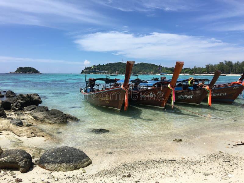 Θαλάσσιο νερό στο lipe του thailland στοκ εικόνες