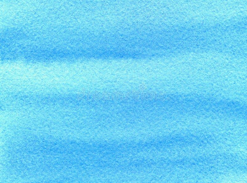 Θαλάσσιο τυρκουάζ ή μπλε κατασκευασμένο υπόβαθρο watercolor Συρμένοι χέρι λεκέδες και θαμπάδες κλίσης σε τραχύ χαρτί Αφηρημένο πρ διανυσματική απεικόνιση