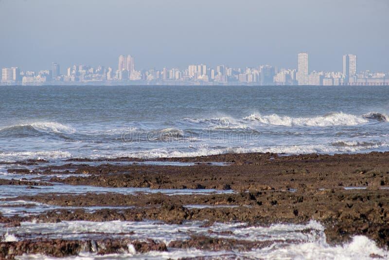 Θαλάσσιο lqandscape Mar del Plata, Αργεντινή στοκ εικόνα