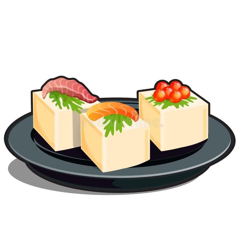 Θαλασσινά και τυρί ή βούτυρο κρέμας που απομονώνεται σε ένα άσπρο υπόβαθρο r ελεύθερη απεικόνιση δικαιώματος