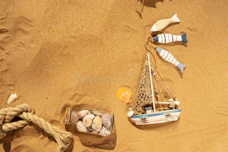 Θαλασσινά κοχύλια στη θερινή παραλία στοκ εικόνες
