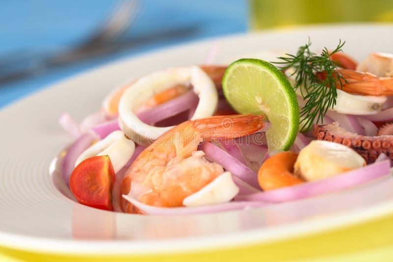 θαλασσινά σαλάτας στοκ εικόνα με δικαίωμα ελεύθερης χρήσης