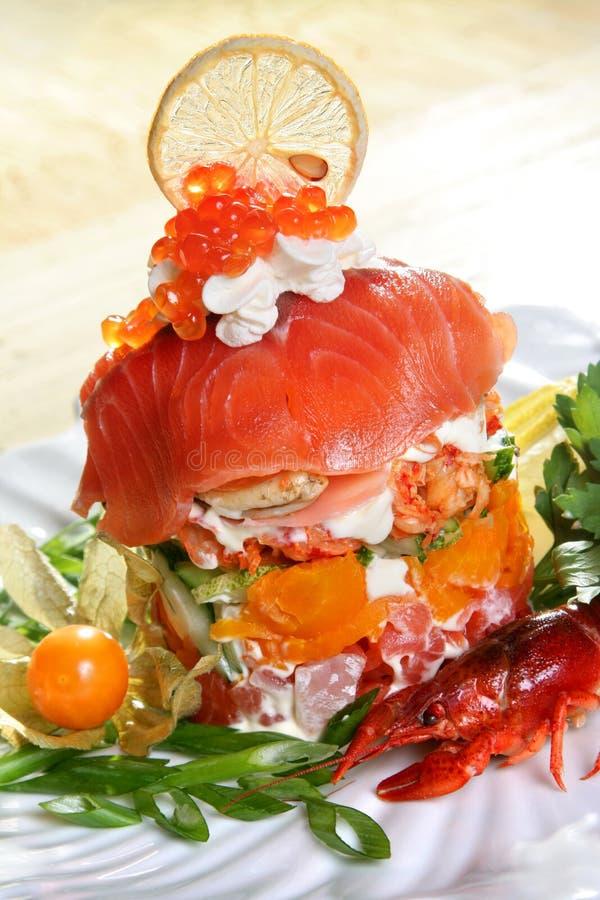 θαλασσινά σαλάτας στοκ φωτογραφία