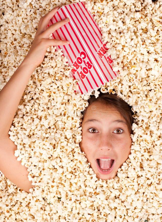 Θαμμένος popcorn στοκ φωτογραφίες