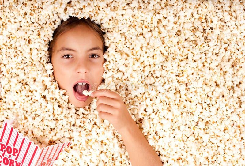 Θαμμένος popcorn στοκ φωτογραφία με δικαίωμα ελεύθερης χρήσης