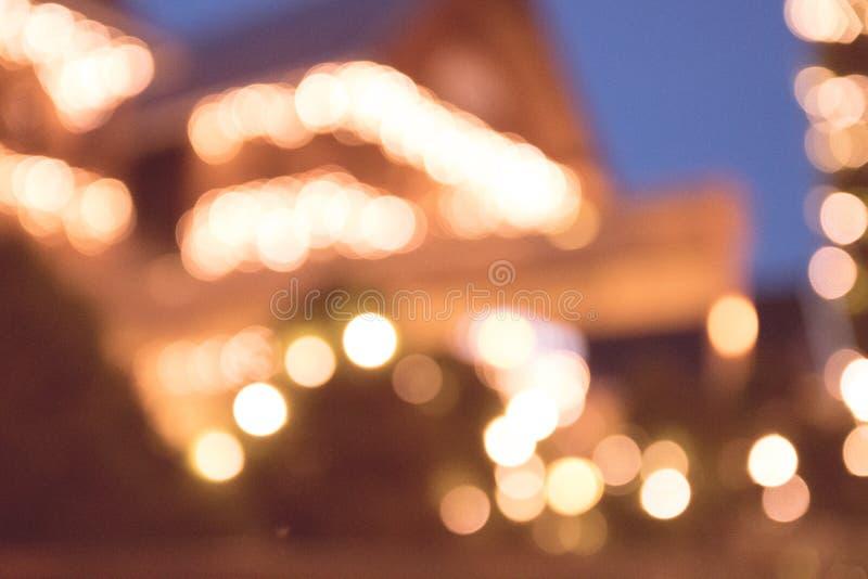Θαμπάδα της έννοιας διακοσμήσεων ταπετσαριών Χριστουγέννων Σκηνικό φεστιβάλ διακοπών στοκ φωτογραφία