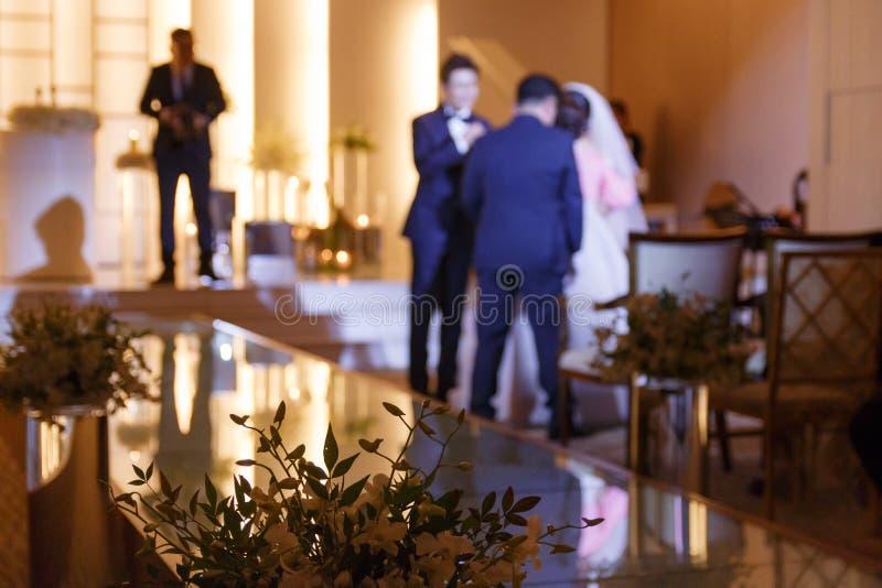 Θαμπάδα της γαμήλιας φωτογραφίας στοκ εικόνες