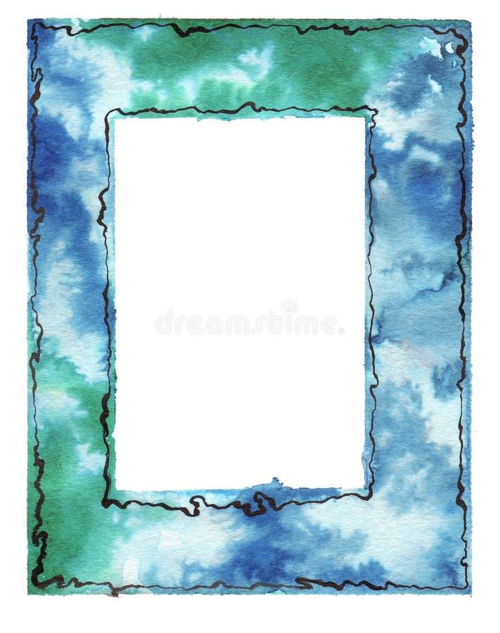 Θαμπάδες Watercolor - πλαίσιο ελεύθερη απεικόνιση δικαιώματος