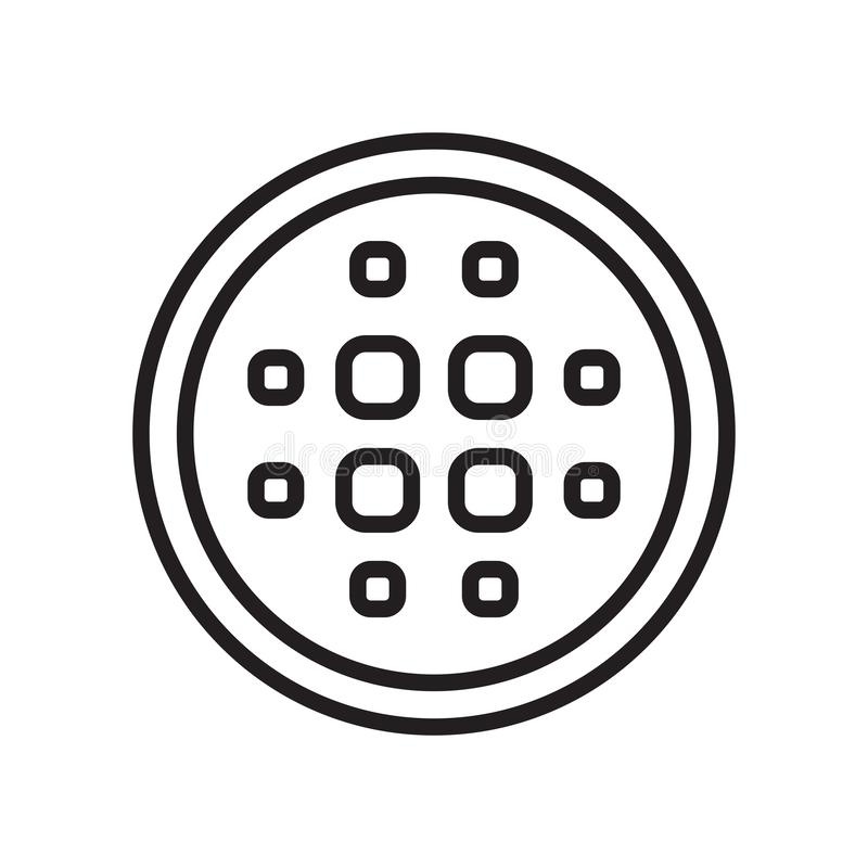 Θαμπάδων σημάδι και σύμβολο εικονιδίων διανυσματικό που απομονώνονται στο άσπρο υπόβαθρο, Β ελεύθερη απεικόνιση δικαιώματος