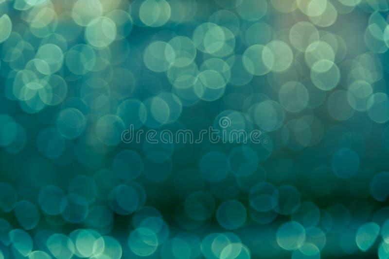 Θαμπάδα Defocused bokeh του αφηρημένου υποβάθρου πράσινου φωτός διανυσματική απεικόνιση