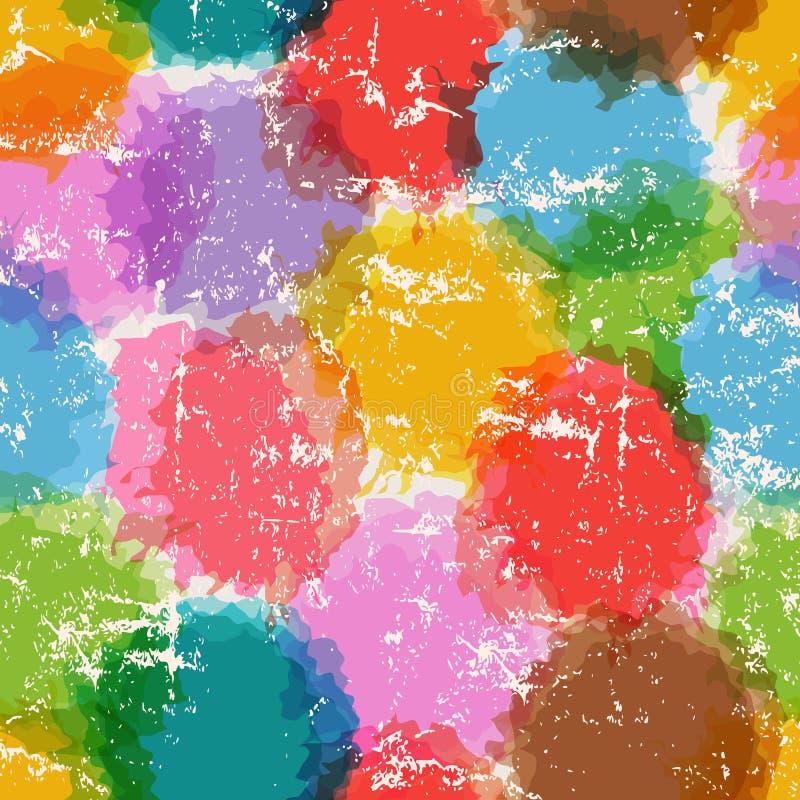 Θαμπάδες του άνευ ραφής σχεδίου χρώματος διανυσματική απεικόνιση