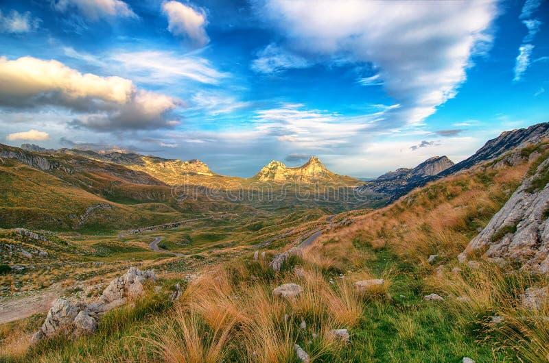 Θαυμάσια άποψη στα βουνά στο εθνικό πάρκο Durmitor Μαυροβούνιο Βαλκάνια Ευρώπη Καρπάθιος, Ουκρανία, Ευρώπη στοκ φωτογραφίες με δικαίωμα ελεύθερης χρήσης