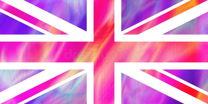 θαυμάσια ολογραφική ιριδίζουσα επίδραση της σημαίας VE της Μεγάλης Βρετανίας διανυσματική απεικόνιση