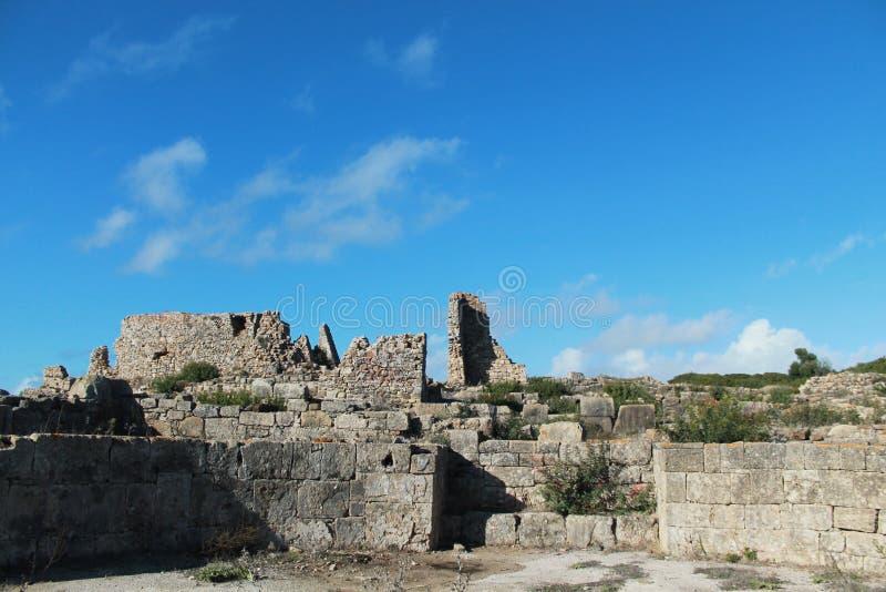 Θαυμάσιες καταστροφές Lixus, Larache στοκ εικόνες