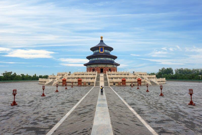 Θαυμάσιος και καταπληκτικός ναός του Πεκίνου - ναός του ουρανού σε Beiji στοκ εικόνες