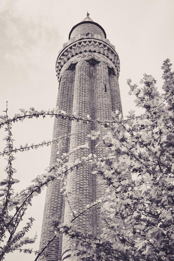 Θαυμάσιος Fluted μιναρές Yivli του Mosquee Antalya στοκ εικόνες