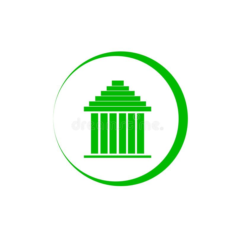 Θαυμάσιο απλό σχέδιο λογότυπων για τα κατασκευαστικά εταιρεία διανυσματική απεικόνιση