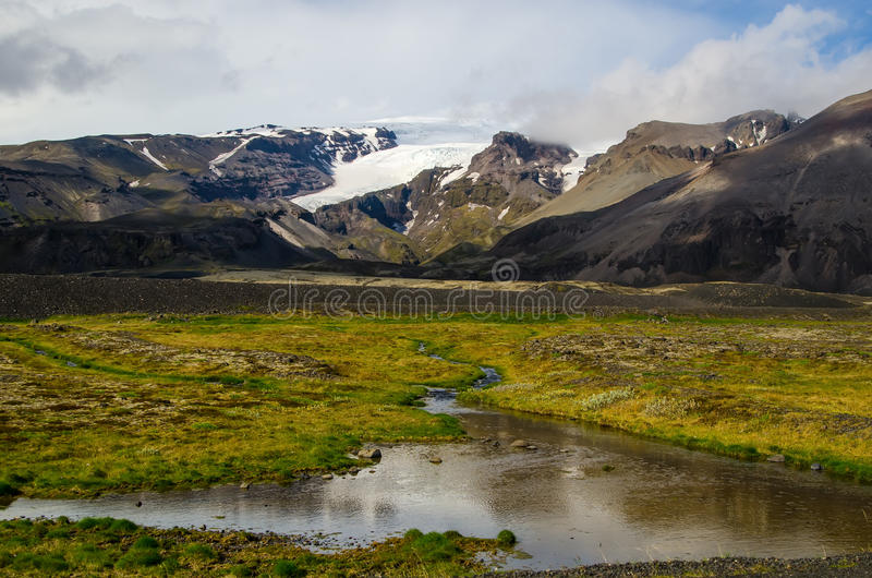Θαυμάσιο ισλανδικό τοπίο φύσης στοκ εικόνες