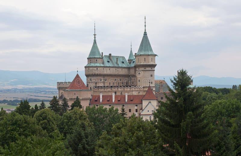 Θαυμάσιο κάστρο Bojnice στη Σλοβακία στοκ εικόνες