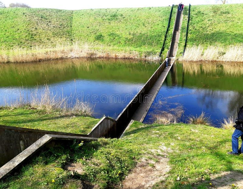 Θαυμάσιο Mose& x27 γέφυρα του s, Κάτω Χώρες στοκ εικόνα