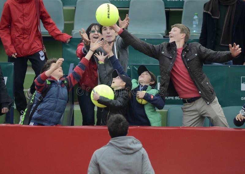 Θαυμαστές αντισφαίρισης στοκ φωτογραφία με δικαίωμα ελεύθερης χρήσης
