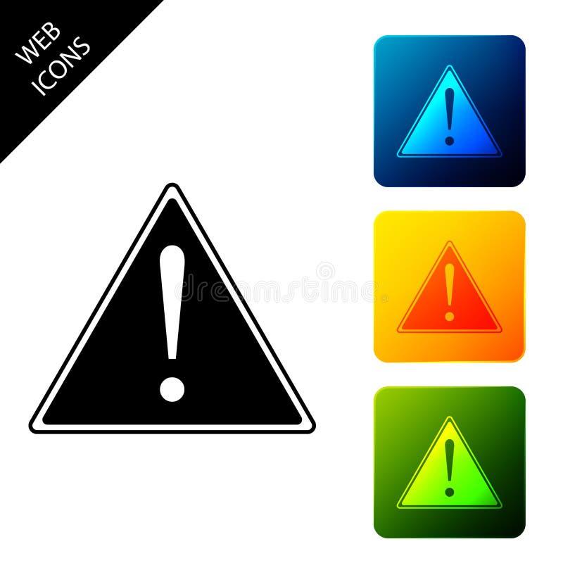 Θαυμαστικό σε απομονωμένο εικονίδιο τριγώνου Σήμα προειδοποίησης κινδύνου, προσοχή, σήμα προειδοποίησης κινδύνου σημαντικό Ορισμό ελεύθερη απεικόνιση δικαιώματος