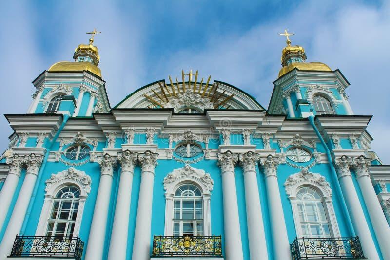 Θαλάσσιος καθεδρικός ναός Nikolsky, ST Πετρούπολη, Ρωσία στοκ εικόνες