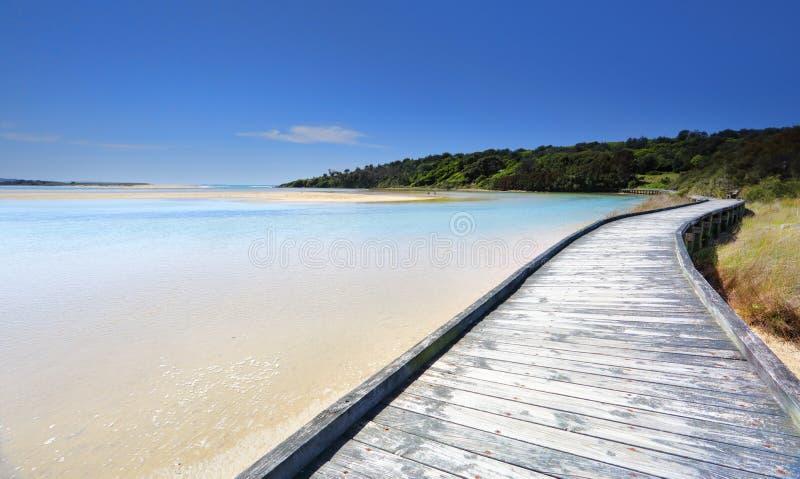 Θαλάσσιος περίπατος σε Wallaga στοκ φωτογραφίες με δικαίωμα ελεύθερης χρήσης