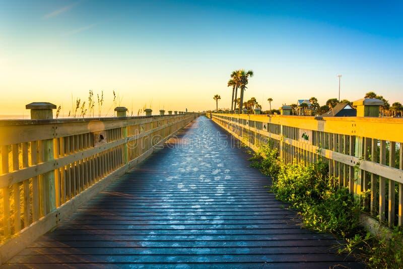 Θαλάσσιος περίπατος στην παραλία στην ακτή φοινικών, Φλώριδα στοκ εικόνες με δικαίωμα ελεύθερης χρήσης