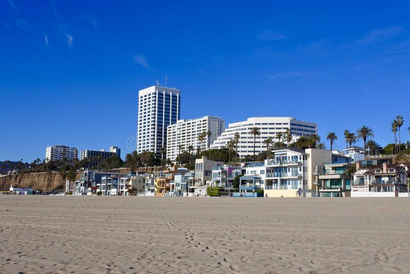 Θαλάσσιος περίπατος της Σάντα Μόνικα, Καλιφόρνια, ΗΠΑ στοκ εικόνες με δικαίωμα ελεύθερης χρήσης