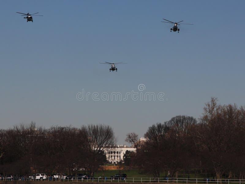 Θαλάσσιος πλησιάζει το Λευκό Οίκο στοκ εικόνα