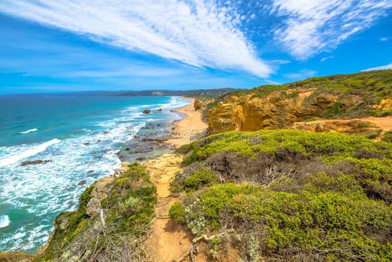Θαλάσσιο άδυτο σημείου αετών στο μεγάλο ωκεάνιο δρόμο στοκ εικόνα