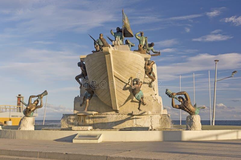 Θαλάσσιο μνημείο στους χώρους Punta, Χιλή στοκ φωτογραφίες