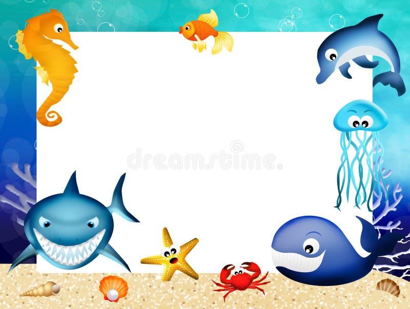 Θαλάσσιο πλαίσιο ζώων απεικόνιση αποθεμάτων
