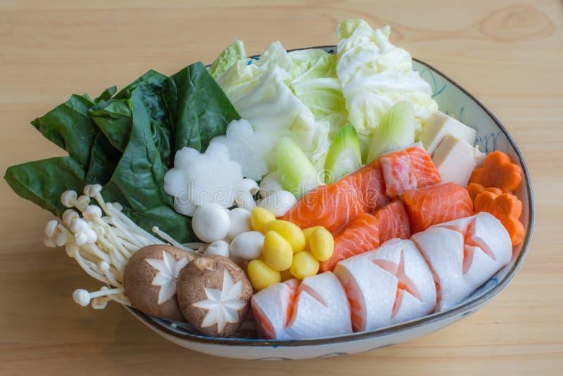 Θαλασσινά nabe, ιαπωνικά τρόφιμα στοκ εικόνες με δικαίωμα ελεύθερης χρήσης