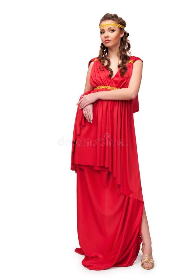 θεά ελληνικά κοριτσιών φορεμάτων στοκ εικόνες