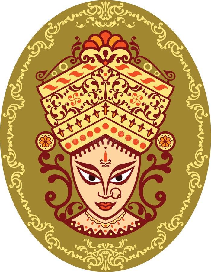 θεά Ινδός durga διανυσματική απεικόνιση