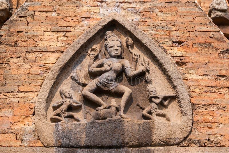 Θεά Durga στο μέτωπο Po N'gar Cham στο άδυτο. στοκ φωτογραφία με δικαίωμα ελεύθερης χρήσης